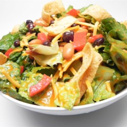Spicy Tex-Mex Salad Recipe - This is an unusual salad that everyone in my office loves.  I get requests for it time and time again.