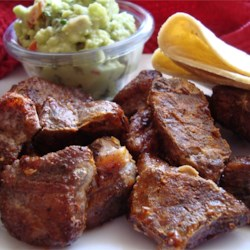 Chile Pork Recipe - Cubed pork, spiced up with chili, cumin, garlic and cilantro.