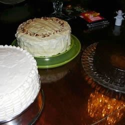 coconut, carrot and chocolate cake