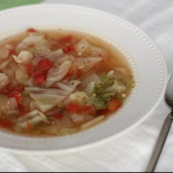 Healing Cabbage Soup Recipe and Video - Comfort food on a cold winter's night, cabbage simmered in chicken broth is also an age-old folk remedy for curing the common cold.