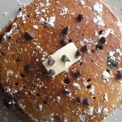 Whole Wheat Blueberry Chocolate Chip Pancake
