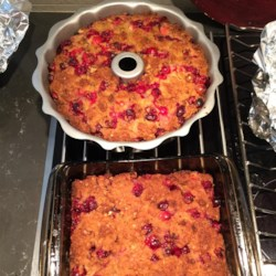 Really Cranberry Orange Yummy Gummy Pudding Cake Recipe - Everything you love about orange, cranberries, and pecans, made into a big, moist, yummy sheet cake. Despite the name, you don't need pudding mix.