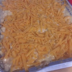 Chicken Enchiladas III Recipe - The height of convenience, this enchiladas recipe combines canned chicken, soup and chiles with processed cheese for the one of the quickest suppers you can make.