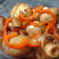 Marinated Mushrooms Recipe - These mushrooms will really grow on you, especially when served as a Christmas appetizer.
