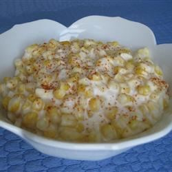 Gulliver's Cream Corn Recipe - Creamed corn for a crowd. Simply made with thawed frozen corn kernels, heavy cream, and a pinch of pepper.