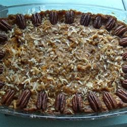 Sweet Sweet Potato Casserole  Recipe - Coconut is the special ingredient in this wonderfully sweet and fragrant sweet potato casserole.