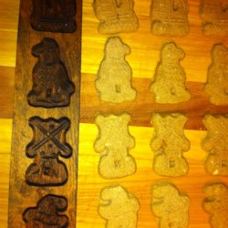 Speculaas Cookies or Spicy Sinterklass Cakes Recipe - This traditional Dutch cookie recipe came with a mold I got 20 years ago. Speculaas is a corruption of the Latin speculum (mirror). The dough is pressed into carved molds that can be used for wall decorations.  When turned out onto the cookie sheet, the picture appears as its mirror image, hence the name.  In the Sinterklass season they are available in 2/3 cookie size to huge thick men and women up to 1 pound known as lovers. If molds are not available, roll dough to desired thickness and use gingerbread man cutter or other cutter shapes. They are great to make ahead around Christmas because they last a long time.