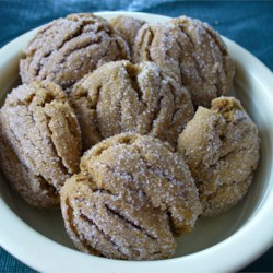 Molasses Peanut Butter Crinkles Recipe - Plump sugar-topped cookies that  taste just like Mary Jane candies.  I tone down the ginger and cloves for my toddlers.