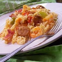 Bubba's Jambalaya Recipe and Video - Easy Southern classic, with chicken, sausage, ham, and shrimp.
