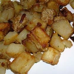 Mom's Brown Potatoes Recipe - These potatoes are different than the usual fries, but so good.