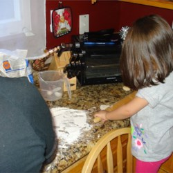 My oldest likes helping me bake :)