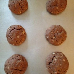 Grandmas Cowboy Cookies Recipe - A soft cookie with tons of chocolate and flavor.