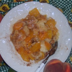 Fruit Cobbler Recipe - Pay a visit to your favorite farm stand so that you can make this luscious cobbler. Fruit is spooned on top of the batter then the cobbler is slipped into the oven to bake for an hour.