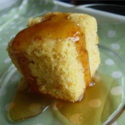 Golden Sweet Cornbread Recipe - If you like sweet cornbread, this is the recipe for you! My mom made this for me as a child, and now it's my family's favorite.
