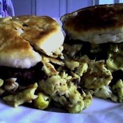 Home made Sausage & Egg biscuits