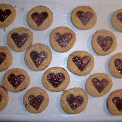 Raspberry Hearts Recipe - Melt in your mouth cookies and beautiful for Valentine's Day!