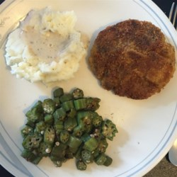 Chicken Fried Venison Steaks Recipe - Thinly pounded venison steaks get a coating of seasoned crumbs before being fried to a golden brown.