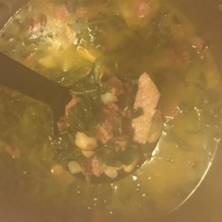 Caldo Gallego Recipe - Caldo Gallego, a traditional Spanish soup, is full of turnips, turnip greens, white beans, and sausage, making a hearty and warm meal for cold evenings.