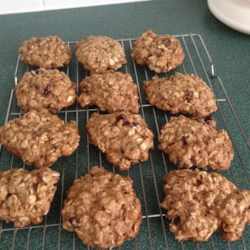 Cranberry Orange Oat Cookies Recipe - Orange flavored oatmeal cookies are made moist with applesauce and tangy with cranberries.