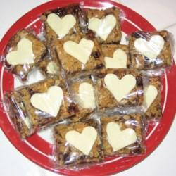 Valentine's Raspberry Oatmeal Cookie Bars