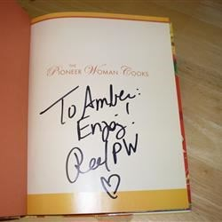 Autographed PW cookbook, sent to me by Anita!