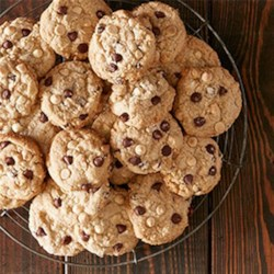 Double Chocolate Chip Oatmeal Cookies Recipe - Double your indulgence with these double chocolate chip oatmeal cookies.