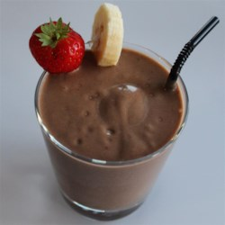 Superfood Chocolate Pudding Smoothie Recipe - This chocolate pudding smoothie, made with avocado, banana, and berries, is a quick and easy breakfast for on-the-go eating.