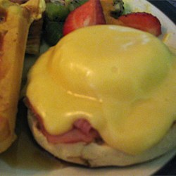 Double-Cheese Eggs Benedict