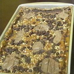 One Hundred Thousand Calorie Bars Recipe - A rich tasty treat. They're quick and easy to make, chock full of calories but oh so divinely delicious.