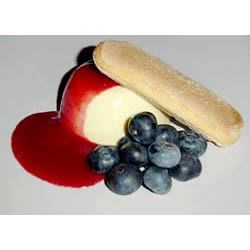 Lemon Panna Cotta With Raspberry-Orange Sauce