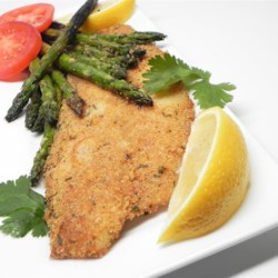 Grilled Tilapia with Asparagus Recipe - This simple recipe for breaded tilapia with asparagus can be used for any mild white fish. The recipe works for pan-frying or oven-baking, too.