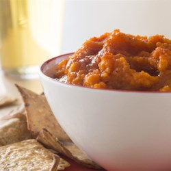 Moroccan Carrot Dip Recipe - Carrot dip may sound unusual, but this Mediterranean-style blend is a perfect balance of sweet and spicy, and a nice change of pace from hummus. It's delicious with pita bread or pita chips.