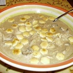 Mom's Oyster Stew Recipe - Oyster stew is whipped up in a matter of minutes. The fresher the oysters, the better the flavor. A fresh tasty, savory version that's sure to please.