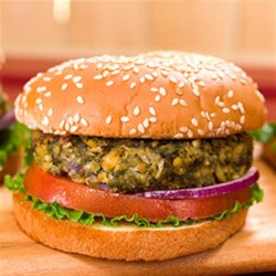 Falafel Burgers Recipe - Featuring nutrient-rich canned spinach and chickpeas, these burgers will quickly become a favorite in your home.