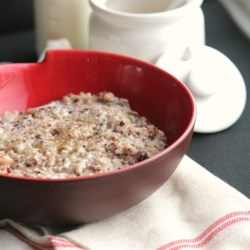 Gluten-Free Hot Breakfast Cereal Recipe and Video - A combination of ground brown rice, quinoa, millet, buckwheat, cornmeal, amaranth, sesame seed, and flax seed makes a satisfying gluten-free hot breakfast cereal.