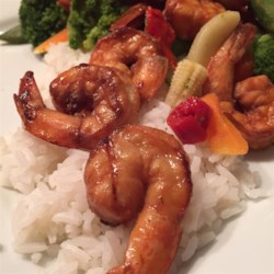 Grilled Kung Pao Shrimp Recipe - A quick, spicy marinade prepares shrimp for the grill in this Chinese-style treatment.