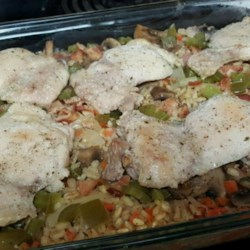 Barley Chicken Casserole Recipe - Barley lends a nutty taste to this chicken, vegetable and bacon composition.