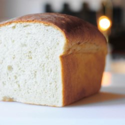 Traditional White Bread Recipe - A delicious bread with a very light center with crunchy crust. You may substitute butter or vegetable oil for the lard if you wish.
