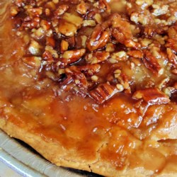 Caramel Pecan Apple Pie Recipe - This is an excellent recipe for upside-down apple pie. With caramel and pecans, it is rich, full of apple flavor, and absolutely delicious.