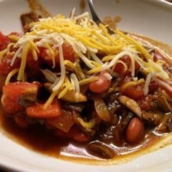 Portobello Mushroom Chili Recipe - Meaty portobello mushrooms are a hearty addition to chili.