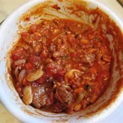 Five Meat Habanero Chili Recipe - A thick, meaty chili with a little kick. Use extra habanero for added heat.