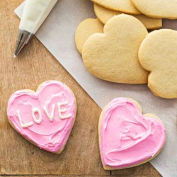Valentine Conversation Heart Cookies Recipe - Say 'I love you!' on Valentine's Day with these yummy sugar cookies inspired by classic conversation hearts.