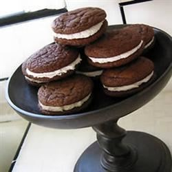 Chocolate Sandwich Cookies I Recipe - Excellent frozen. I have played with this over the years, and come up with several variations. At the holidays, I have added 1 teaspoon peppermint extract to the filling in lieu of the vanilla, and have also used crushed peppermint candy in the filling. I have also dipped them in chocolate, and coated them in confectioners' sugar.
