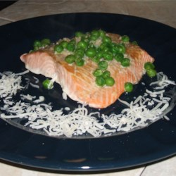 Paper Salmon Recipe - A tasty and clean way to bake salmon! Serve in paper with buttered new potatoes. Yummy!