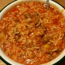 Unstuffed Pepper Soup Recipe - If you are a soup fan and like the flavors of stuffed green peppers, we have a recipe for you!