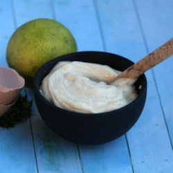 """Close to Store-Bought"" Mayo Recipe - Make mayonnaise from scratch with this quick and easy recipe that uses mustard, avocado oil, and sesame oil to give it a flavorful boost."