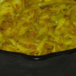 Ethiopian Cabbage and Potato Dish (Atkilt) Recipe - This Ethiopian side dish is a mixture of carrot, onion, potato, and cabbage cooked with a variety of seasonings.