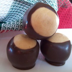 Buckeye Balls II Recipe - These are chocolate-covered balls of peanut butter and confectioners' sugar.