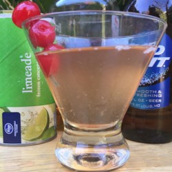 Cherry Lime Beergarita Recipe - This refreshing cherry lime beer cocktail made with cherry-flavored rum and limeade is the perfect cool drink for a party on a hot day.