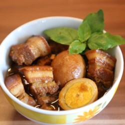 Caramelized Pork Belly (Thit Kho) Recipe - This recipe for Thit Kho, sticky-sweet caramelized pork belly with hard-boiled eggs, is popular in Vietnamese households served over rice.